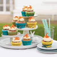 Candied carrot and cream cheese cupcake