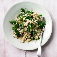 spring greens risotto 250 meals in mins