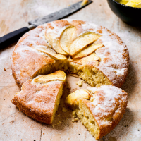 Dorset apple cake with a crunchy sugar topping