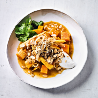 Baby corn, butternut & almond curry