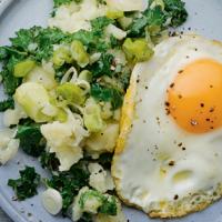 Colcannon with eggs