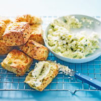 Cheesy scones with whipped feta butter