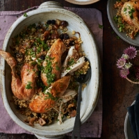 Claudia Roden's Roast chicken with nutty bulgur pilaf