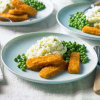 Fish fingers and hot mash