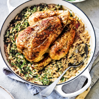 Diana Henry's greek chicken with orzo