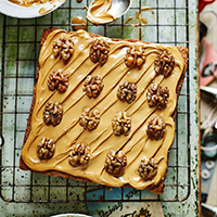 Jane's coffee and walnut traybake