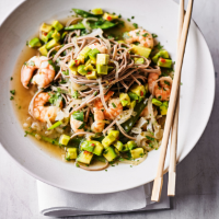 Prawn & avocado Thai noodles