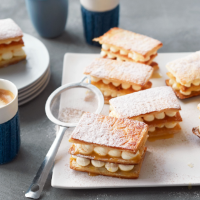 Seville curd and cinnamon mille feuille