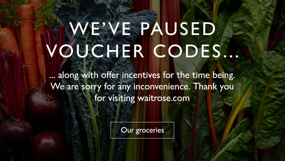 We've paused our voucher codes