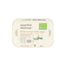 essential Waitrose white eggs