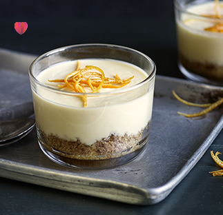Orange & rosemary posset puds