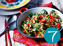 Red pepper and coconut stir-fried rice