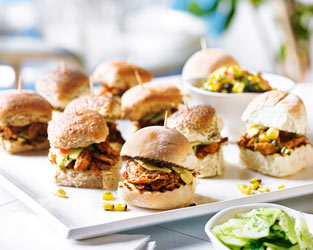 Heston's pork shoulder sliders