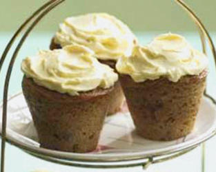Rachel Allen's Christmas pudding muffins with sherry butter icing