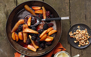 Caramelised autumn fruits