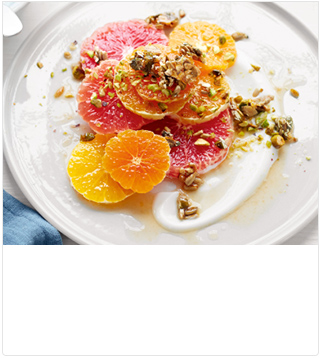 Citrus salad with seed and nut crunch