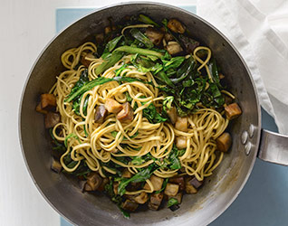 Spring vegetable and noodle stir-fry