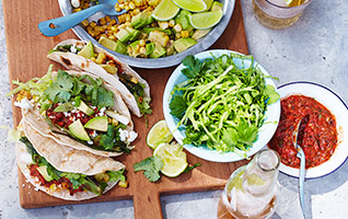 Mexican sweetcorn tacos