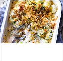 Chicken & leek gratin