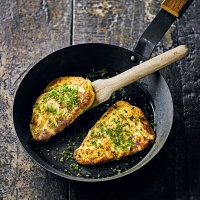 Baked potato & cheese farls