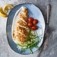 Chicken, dukkah & cauliflower couscous