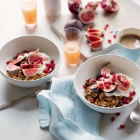 Crunchy seed & sour cherry granola