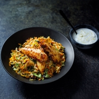 Cumin & lemon chicken with spiced rice