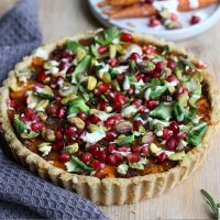 Winter spiced butternut squash tart