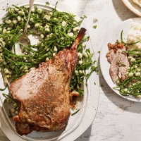 Simple roast lamb with samphire