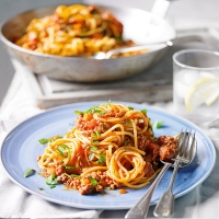 Spicy lamb Bolognese