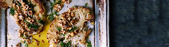 Whole roasted cauliflower steak recipe