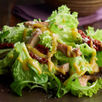 Pork and Parmesan Honey Mustard Salad