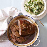 Braised lamb shoulder with colcannon