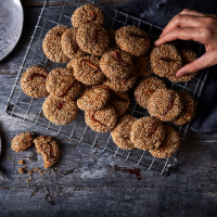 Date and tahini cookies