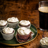 Guinness and chocolate cupcakes