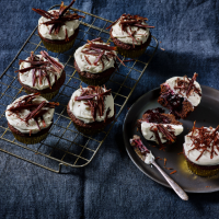 Halloween black forest cupcakes