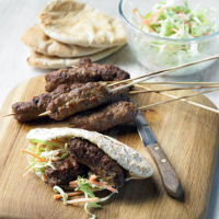 Lamb kofta with coleslaw