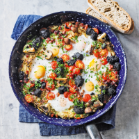 Martha Collison's Dad's baked eggs full English