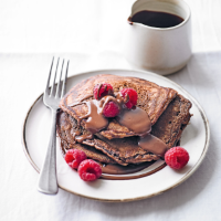Martha Collison's chocolate brownie pancakes