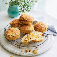 Olive and sundried tomato scones