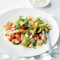 Penne with mediterranean vegetables