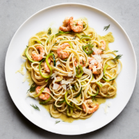 Prawn spaghetti lunghi with lime & chilli