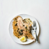 Ray wings with capers, lemon & butter
