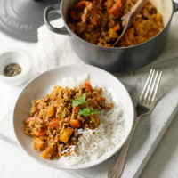 Sally's curried minced pork