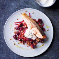 Salmon with beetroot & grains