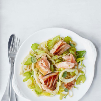 Salmon escabeche with fennel, celery and citrus