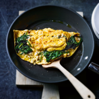 Spinach & ricotta omelette