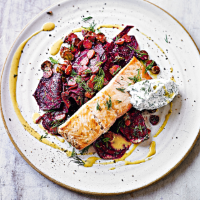 Salmon with beet remoulade