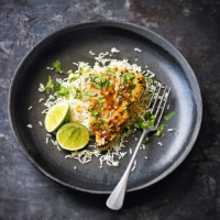 Tuna steaks with lime, chilli & coriander