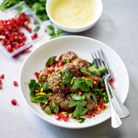 Turkish meatballs with pomegranate & pistachio